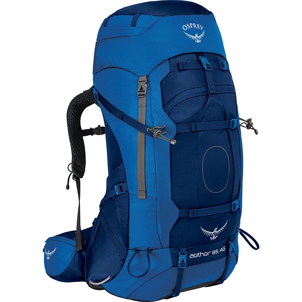 Osprey Aether AG 85 Hiking Pack Neptune Blue – LG - Osprey Backpacking Packs - Outdoor, Backpacking Packs