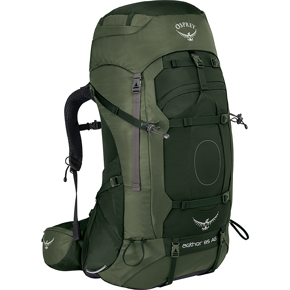 Osprey Aether AG 85 Hiking Pack Adriondack Green – MD - Osprey Backpacking Packs - Outdoor, Backpacking Packs