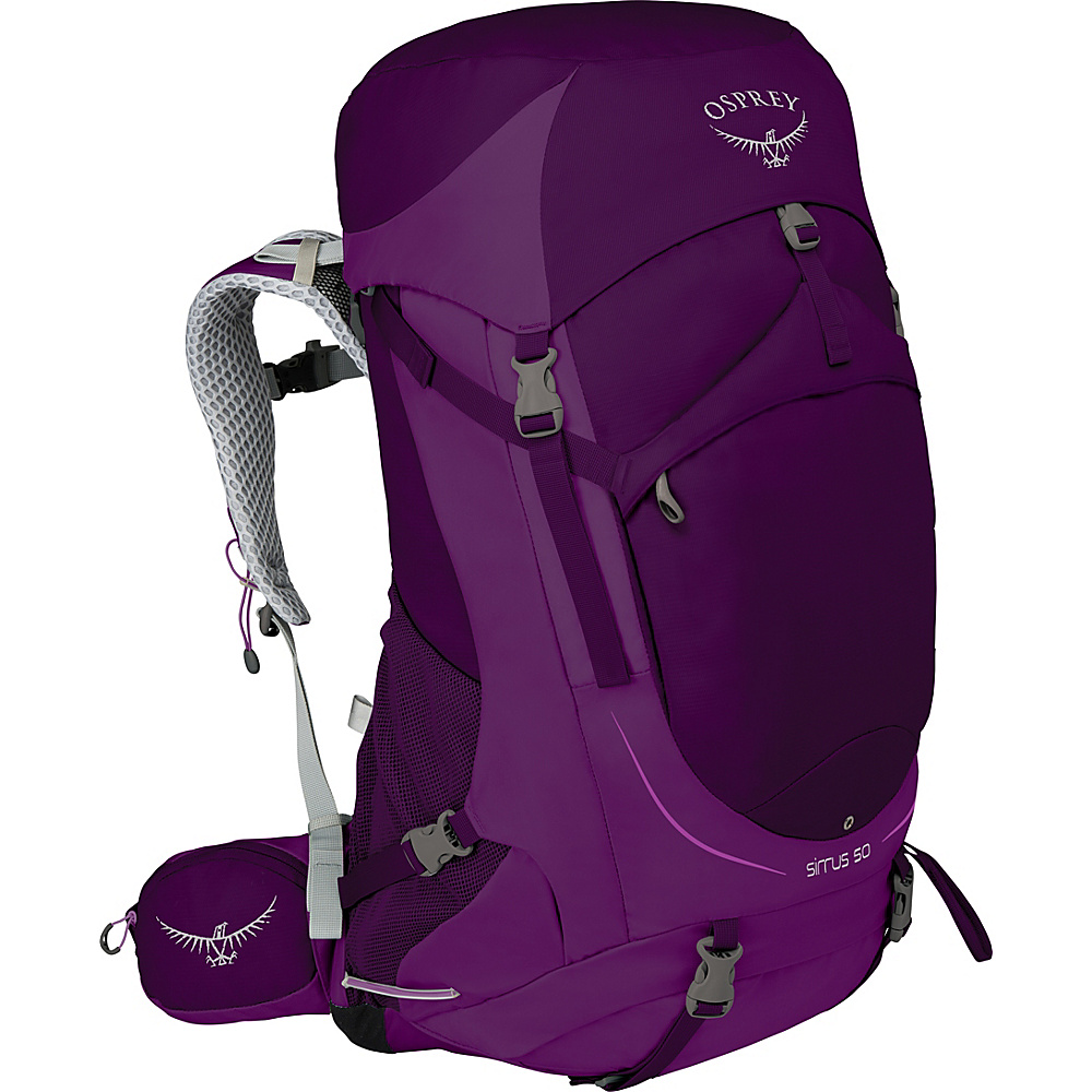 Osprey Womens Sirrus 50 Hiking Pack Ruska Purple – WS/M - Osprey Backpacking Packs - Outdoor, Backpacking Packs