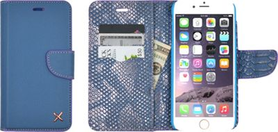 Candywirez Case Study Wallet for iPhone 6S Plus Croc Slate - Candywirez Electronic Cases
