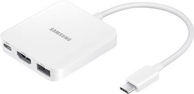Samsung - Ingram Galaxy TabPro S Multiport Adapter White - Samsung - Ingram Electronic Accessories