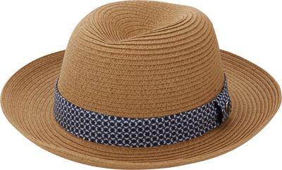 Ben Sherman Sewn Braid Straw Trilby L/XL - Natural - Ben Sherman Hats