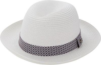 Ben Sherman Sewn Braid Straw Trilby S/M - White - Ben Sherman Hats