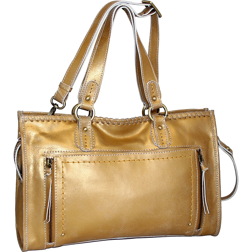 Nino Bossi Denise Tote Gold - Nino Bossi Leather Handbags - Handbags, Leather Handbags