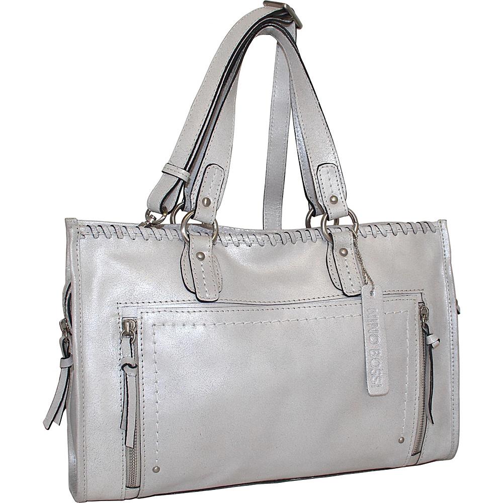 Nino Bossi Denise Tote Silver - Nino Bossi Leather Handbags - Handbags, Leather Handbags