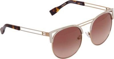 Elie Tahari Sunglasses Round Retro Metal Sunglasses Gold - Elie Tahari Sunglasses Eyewear