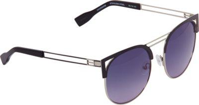 Elie Tahari Sunglasses Round Retro Metal Sunglasses Silver - Elie Tahari Sunglasses Eyewear