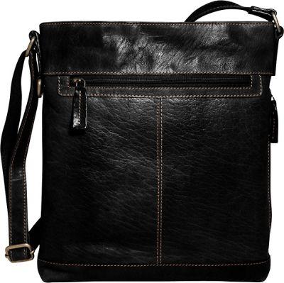 Jack Georges Voyager Large Crossbody Black - Jack Georges Leather Handbags