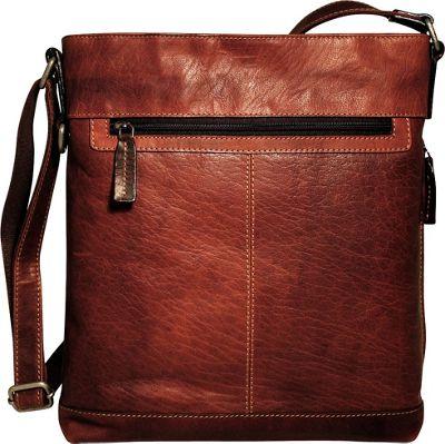 Jack Georges Voyager Large Crossbody Brown - Jack Georges Leather Handbags