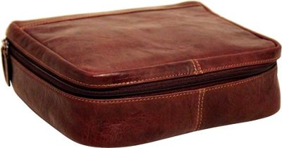 Jack Georges Voyager Large Compartment Toiletry Kit Brown - Jack Georges Toiletry Kits
