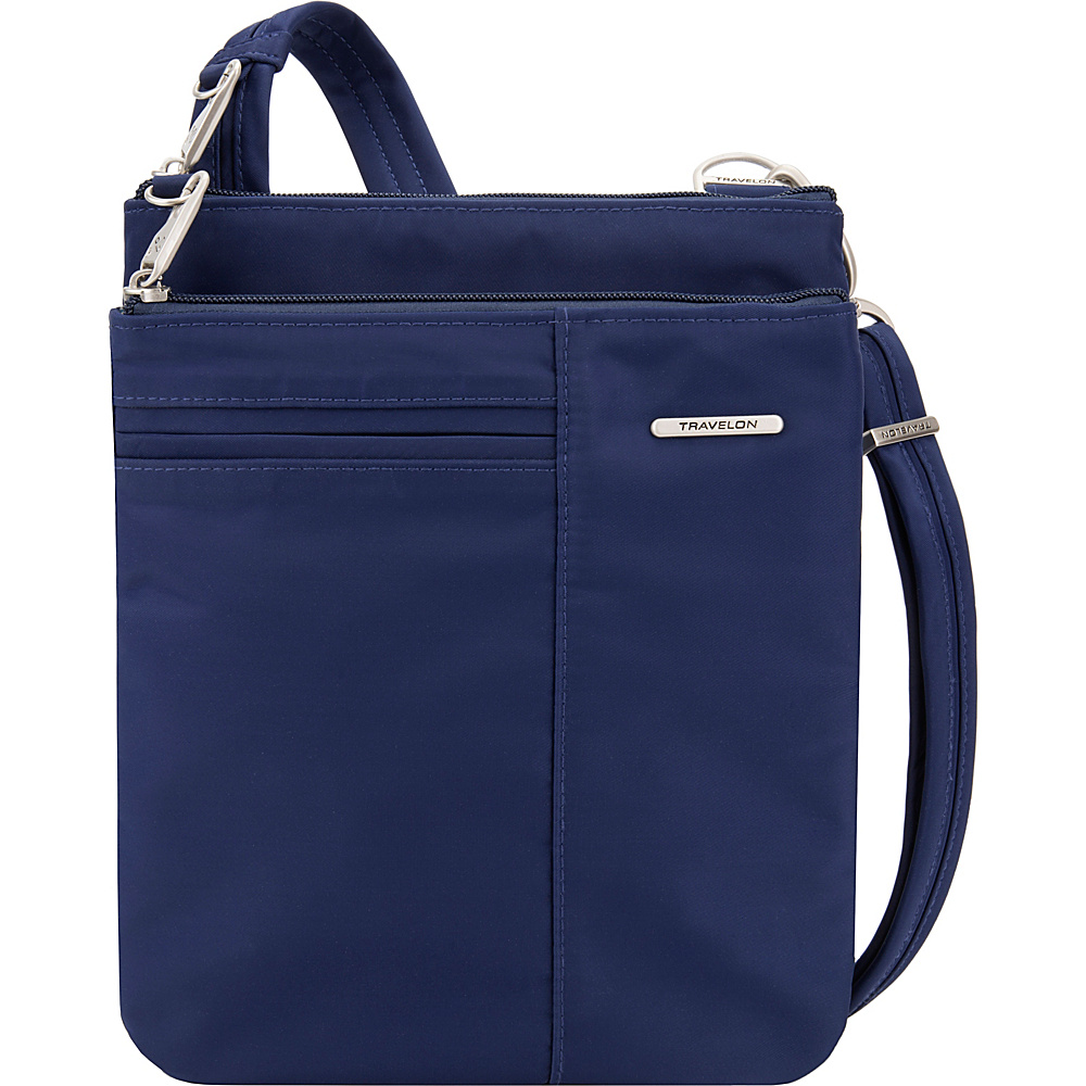 Travelon Anti-Theft Welted Small North/South Crossbody Bag - Exclusive Navy - Travelon Fabric Handbags - Handbags, Fabric Handbags