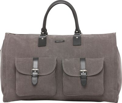 Hook & Albert Waxed Canvas Garment Weekender Bag Gray - Hook & Albert Travel Duffels
