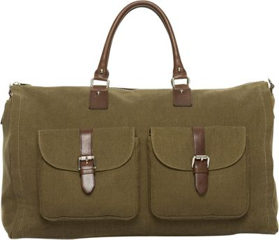 Hook & Albert Waxed Canvas Garment Weekender Bag Olive - Hook & Albert Travel Duffels