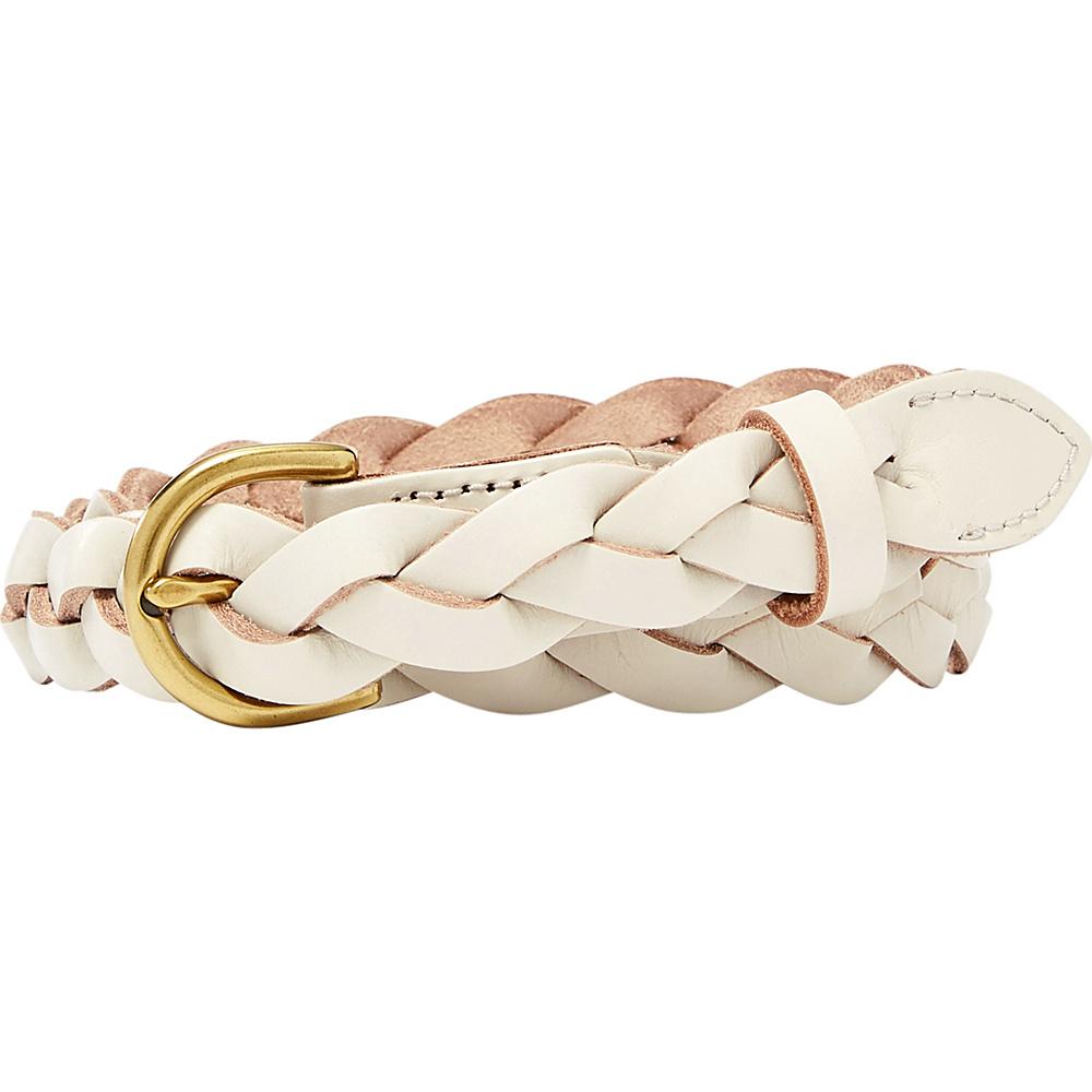 Fossil Skinny Braid Belt S - Vanilla - Fossil Belts - Fashion Accessories, Belts