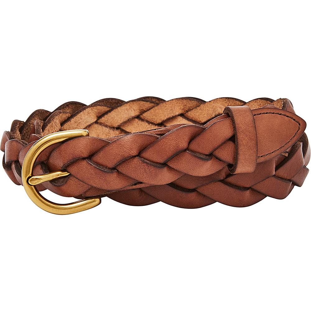 Fossil Skinny Braid Belt M - Tan - Fossil Belts - Fashion Accessories, Belts