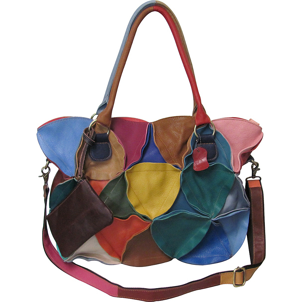 AmeriLeather Lotus Leather Tote Bag Rainbow - AmeriLeather Leather Handbags - Handbags, Leather Handbags