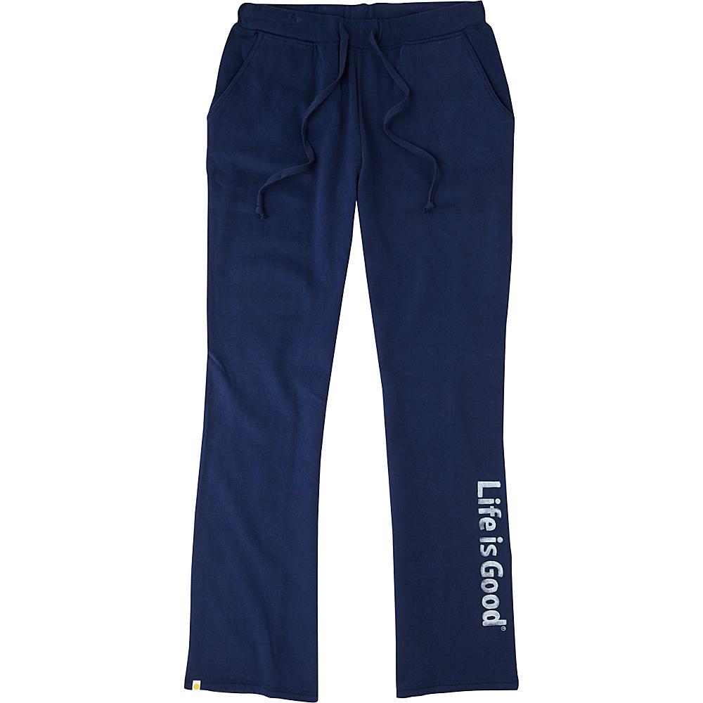 Life is good Womens Fleece Lounge Pant XS - Darkest Blue - Life is good Womens Apparel - Apparel & Footwear, Women's Apparel