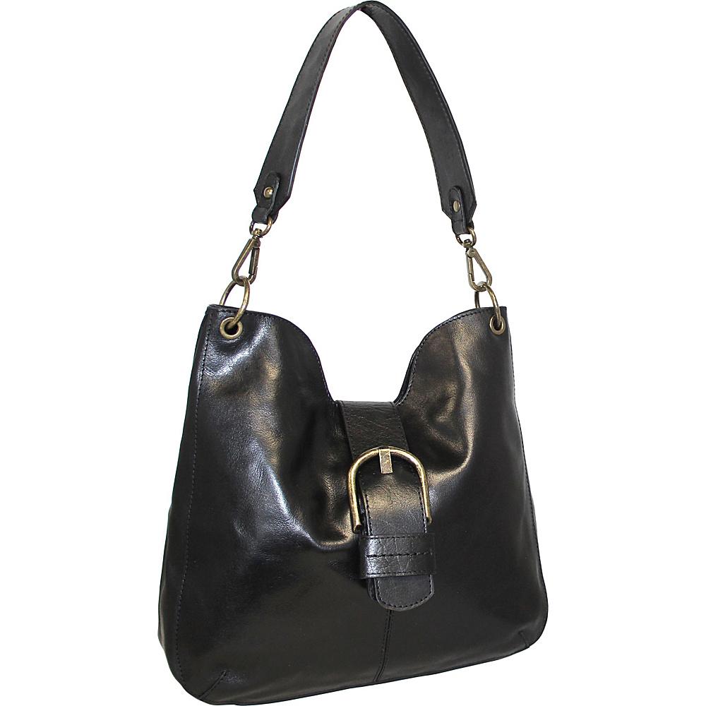 Nino Bossi Trisha Leather Hobo Black - Nino Bossi Leather Handbags - Handbags, Leather Handbags