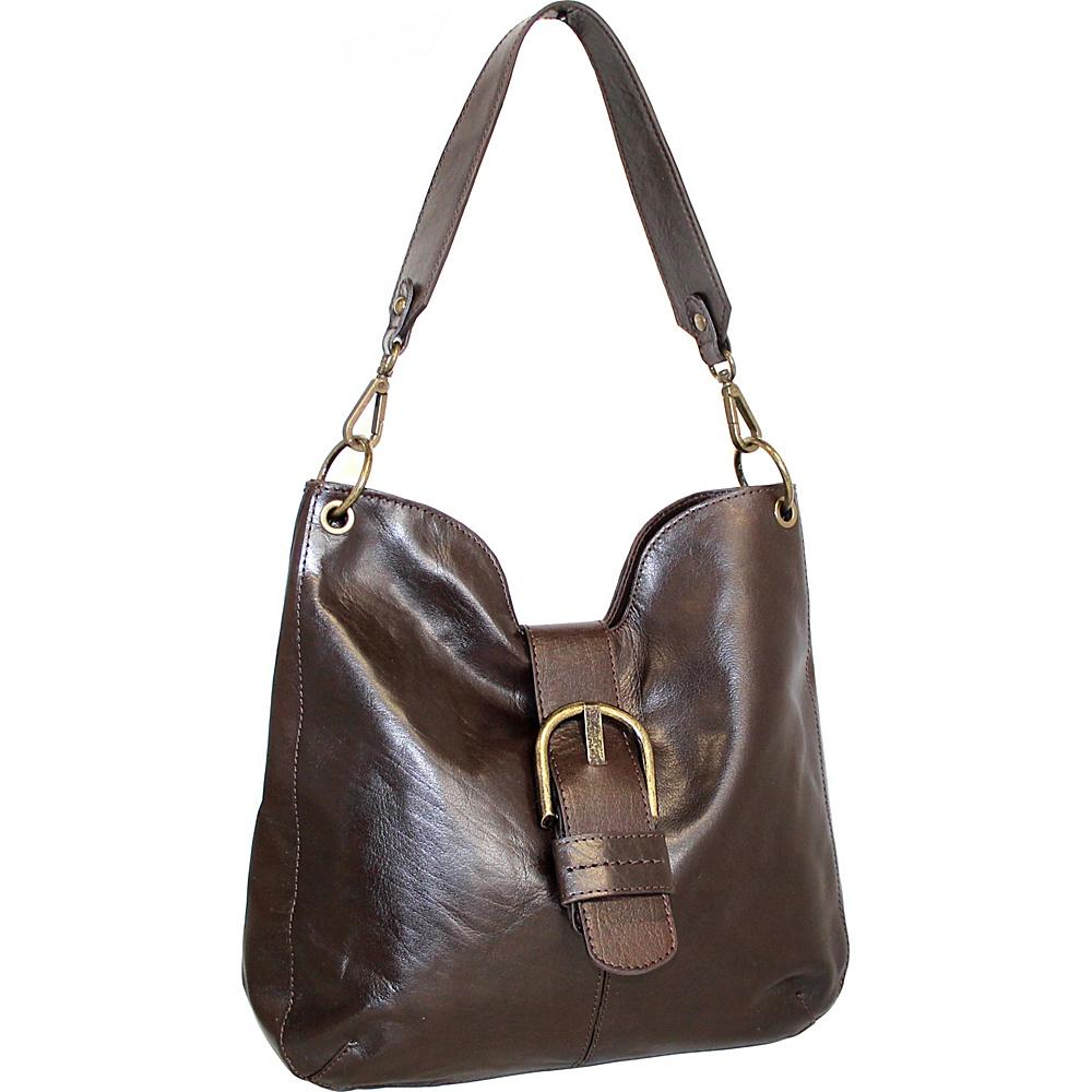 Nino Bossi Trisha Leather Hobo Chocolate - Nino Bossi Leather Handbags - Handbags, Leather Handbags