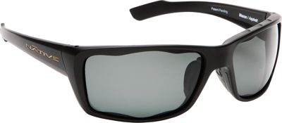 Native Eyewear Wazee Sunglasses Matte Black with Polarized Gray - Native Eyewear Eyewear