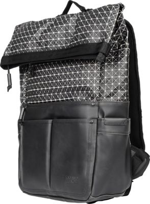 Focused Space The Geometric Rolltop Backpack Black - Focused Space Laptop Backpacks