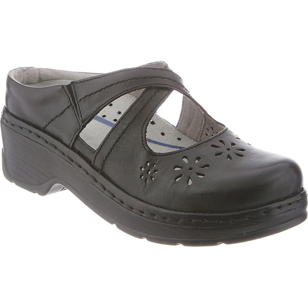KLOGS Footwear Womens Carolina 8 - W (Wide) - Black Smooth - KLOGS Footwear Womens Footwear - Apparel & Footwear, Women's Footwear