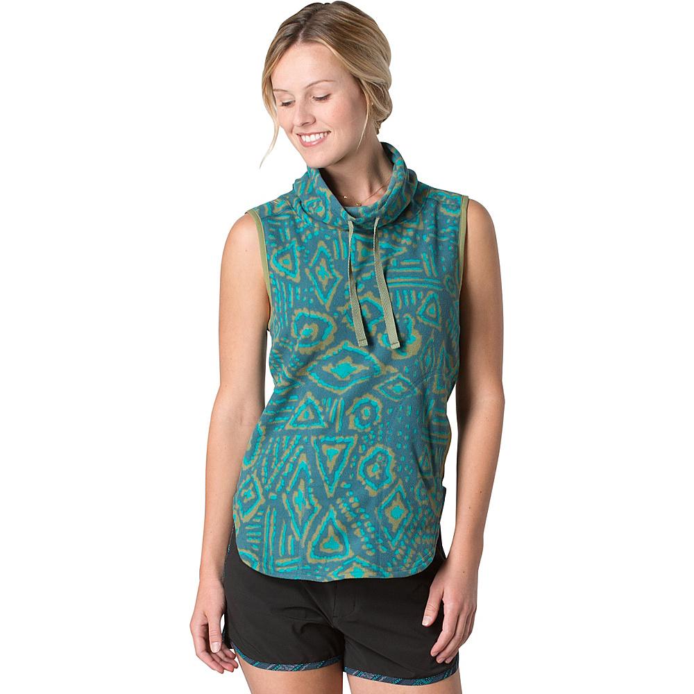 Toad & Co Sundowner Fleece Vest M - Hydro Brush Print - Toad & Co Womens Apparel - Apparel & Footwear, Women's Apparel