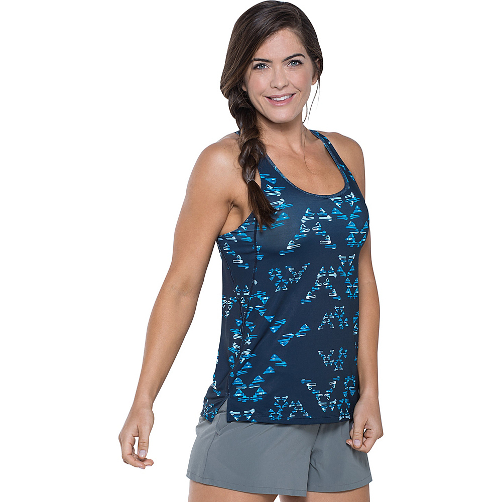 Toad & Co Aquaflex Tank XS - Deep Navy Water Print - Toad & Co Womens Apparel - Apparel & Footwear, Women's Apparel