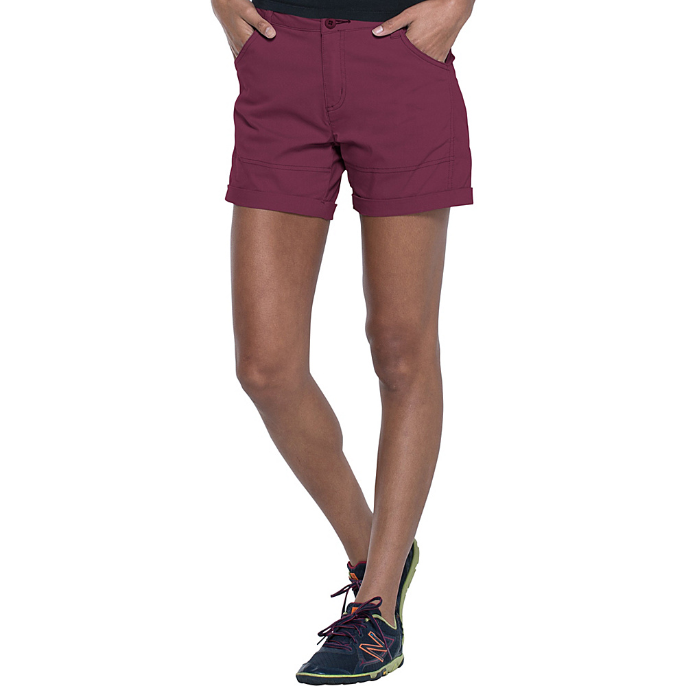 Toad & Co Summitline Hiking Short 14 - 5in - Sangria - Toad & Co Womens Apparel - Apparel & Footwear, Women's Apparel