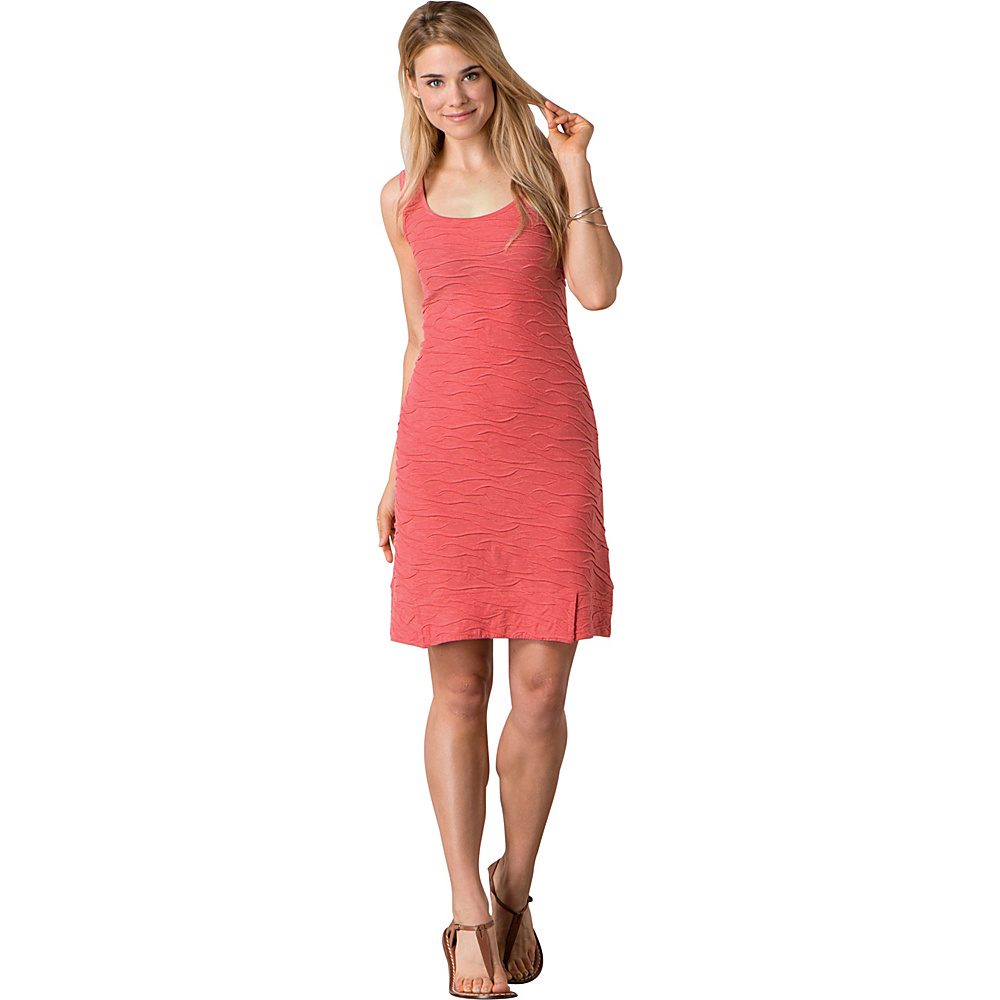 Toad & Co Samba Wave Tank Dress S - Spiced Coral - Toad & Co Womens Apparel - Apparel & Footwear, Women's Apparel