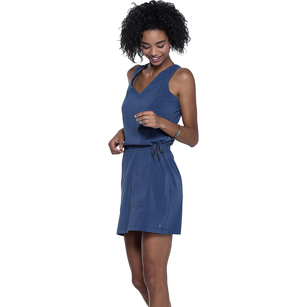 Toad & Co Liv Dress L - Indigo - Toad & Co Womens Apparel - Apparel & Footwear, Women's Apparel