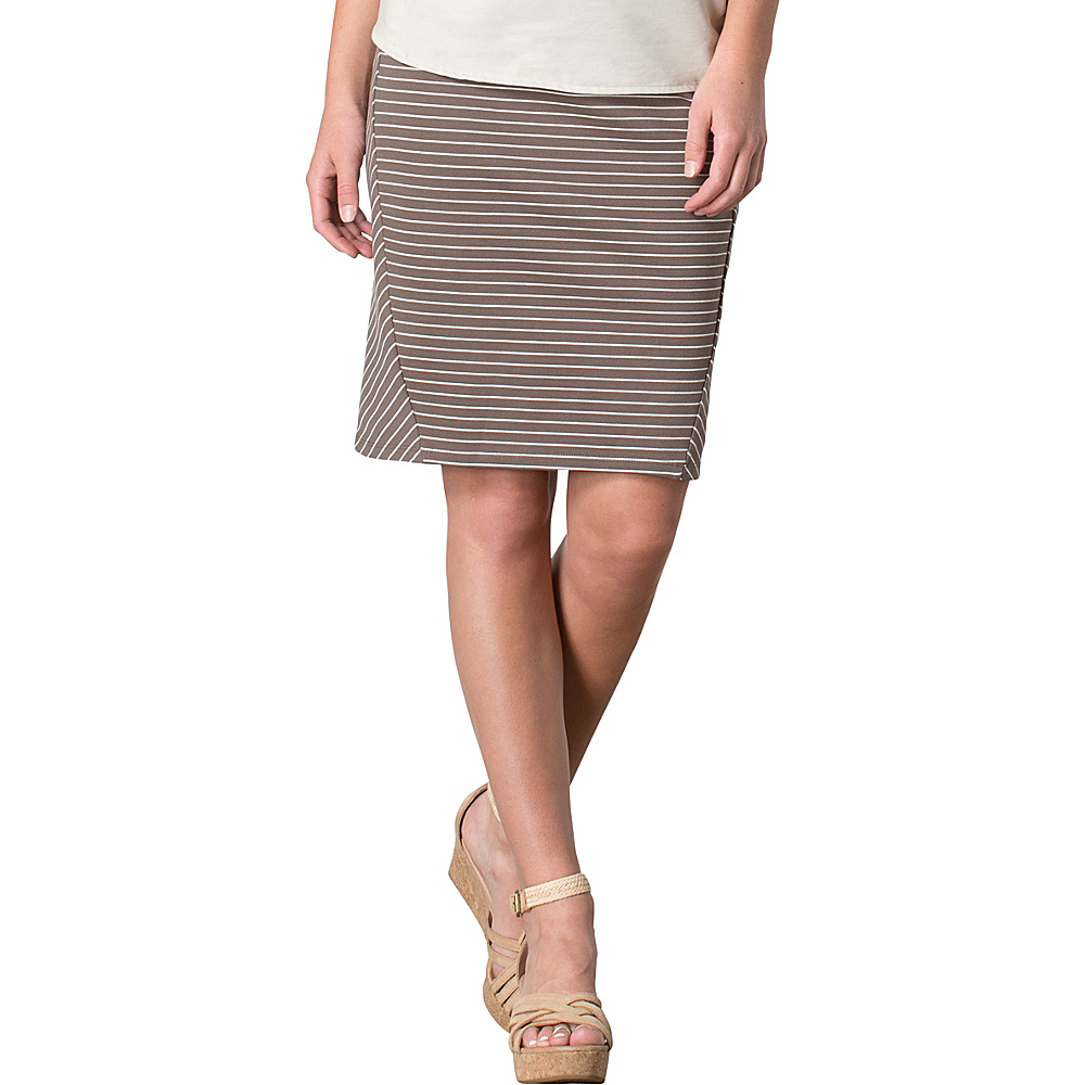 Toad & Co Transita Skirt 21 Inch M - Falcon Thin Stripe - Toad & Co Womens Apparel - Apparel & Footwear, Women's Apparel