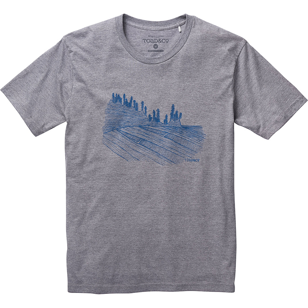 Toad & Co Waves For Days Graphic Tee XL - Gray Heather - Toad & Co Mens Apparel - Apparel & Footwear, Men's Apparel