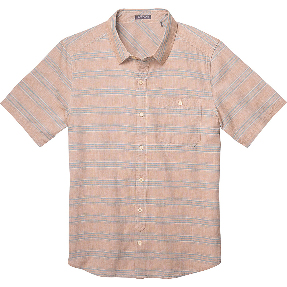 Toad & Co Hardscape Short Sleeve Shirt S - Tabac - Toad & Co Mens Apparel - Apparel & Footwear, Men's Apparel