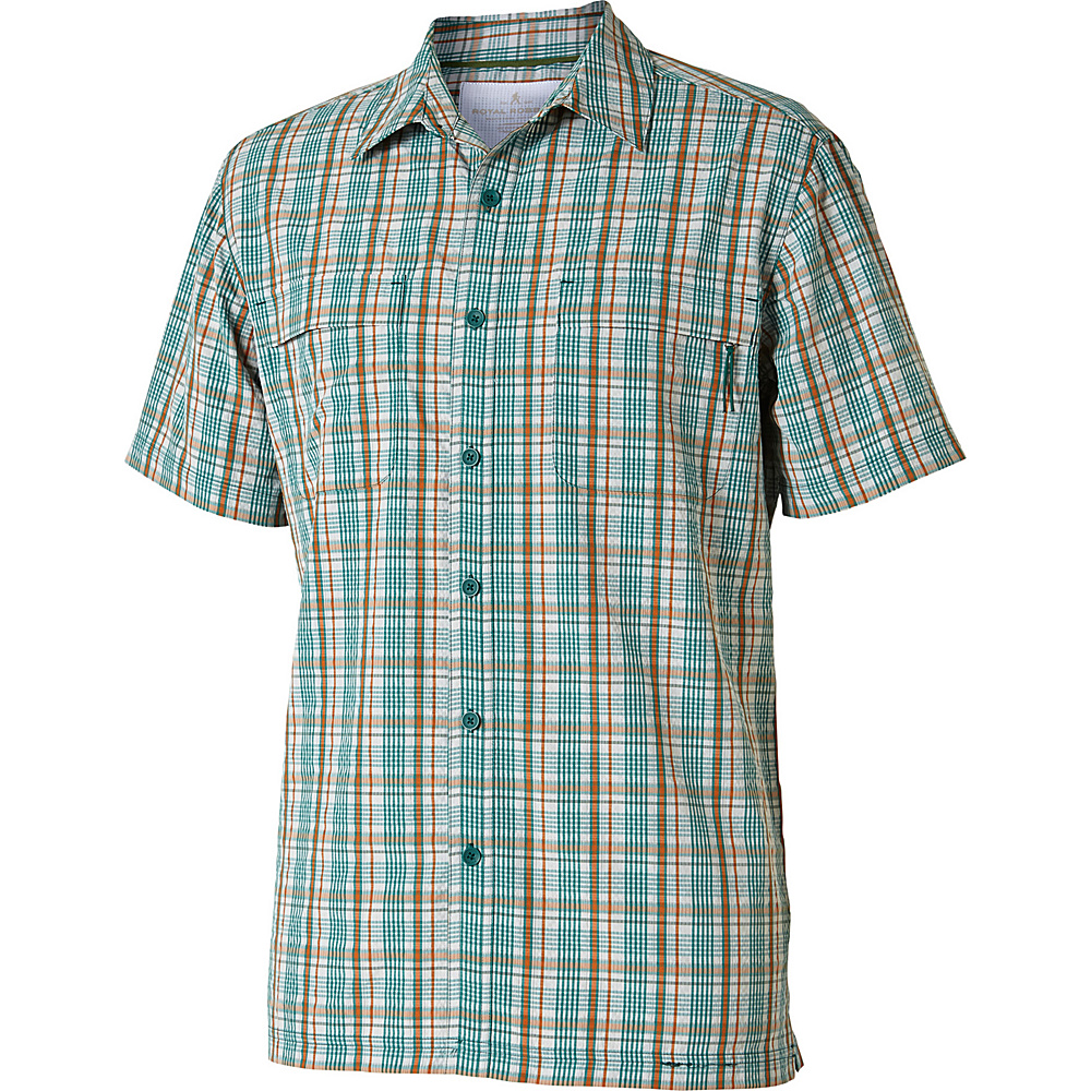 Royal Robbins Mens Diablo Plaid Short Sleeve Shirt XL - Conifer - Royal Robbins Mens Apparel - Apparel & Footwear, Men's Apparel