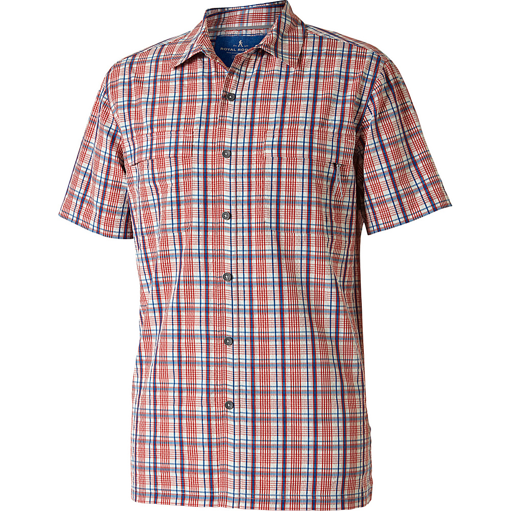 Royal Robbins Mens Diablo Plaid Short Sleeve Shirt S - Crimson - Royal Robbins Mens Apparel - Apparel & Footwear, Men's Apparel