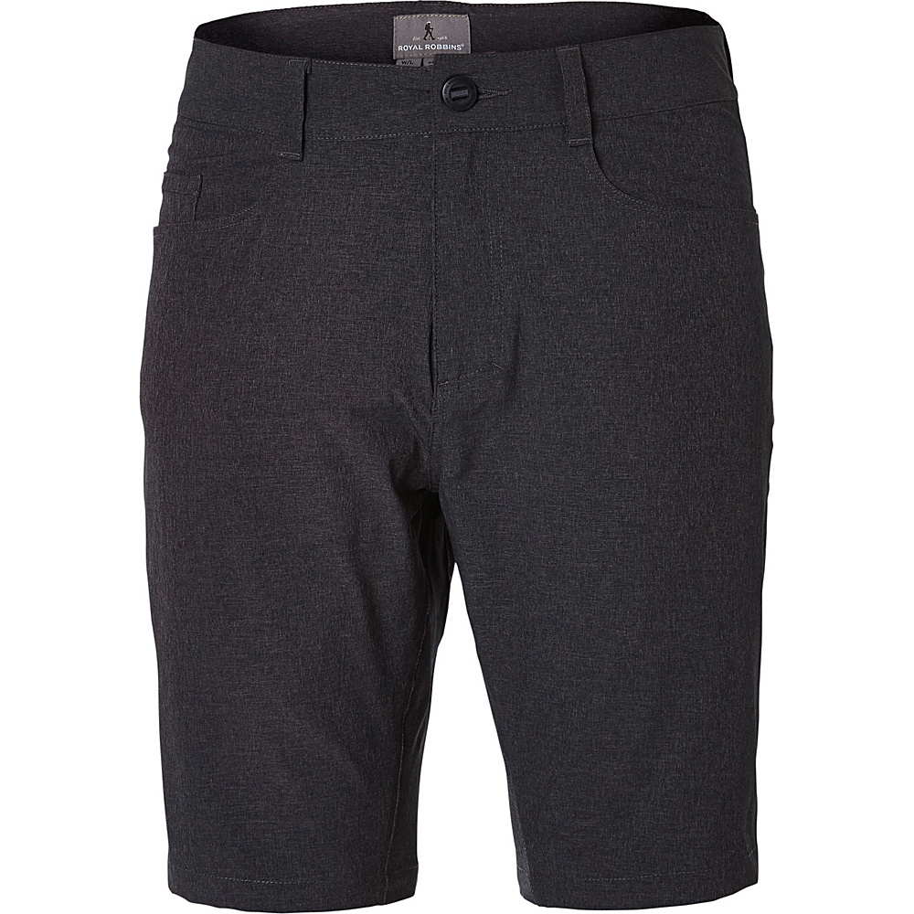 Royal Robbins Mens Coast Short 42 - 10in - Charcoal - Royal Robbins Mens Apparel - Apparel & Footwear, Men's Apparel