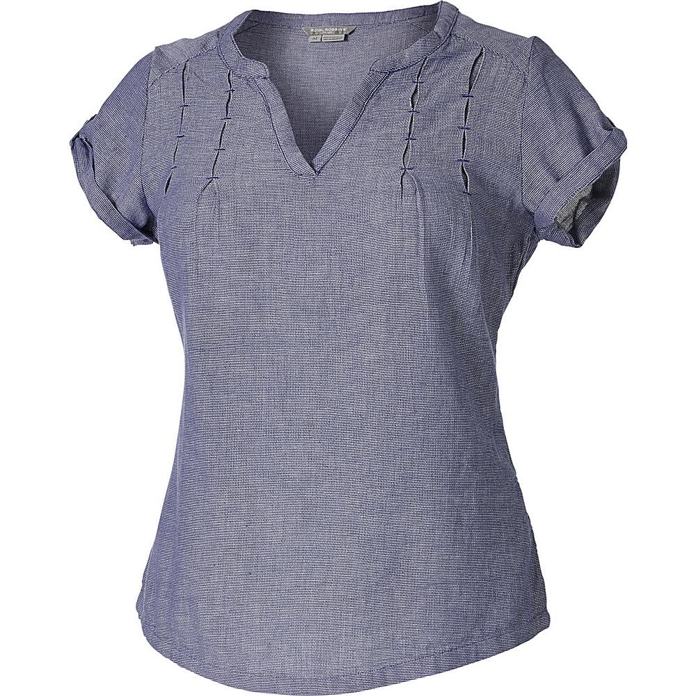 Royal Robbins Womens Cool Mesh Short Sleeve Shirt XS - Deep Blue - Royal Robbins Womens Apparel - Apparel & Footwear, Women's Apparel