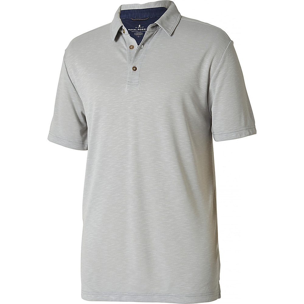 Royal Robbins Mens Great Basin Polo M - Stratus - Royal Robbins Mens Apparel - Apparel & Footwear, Men's Apparel