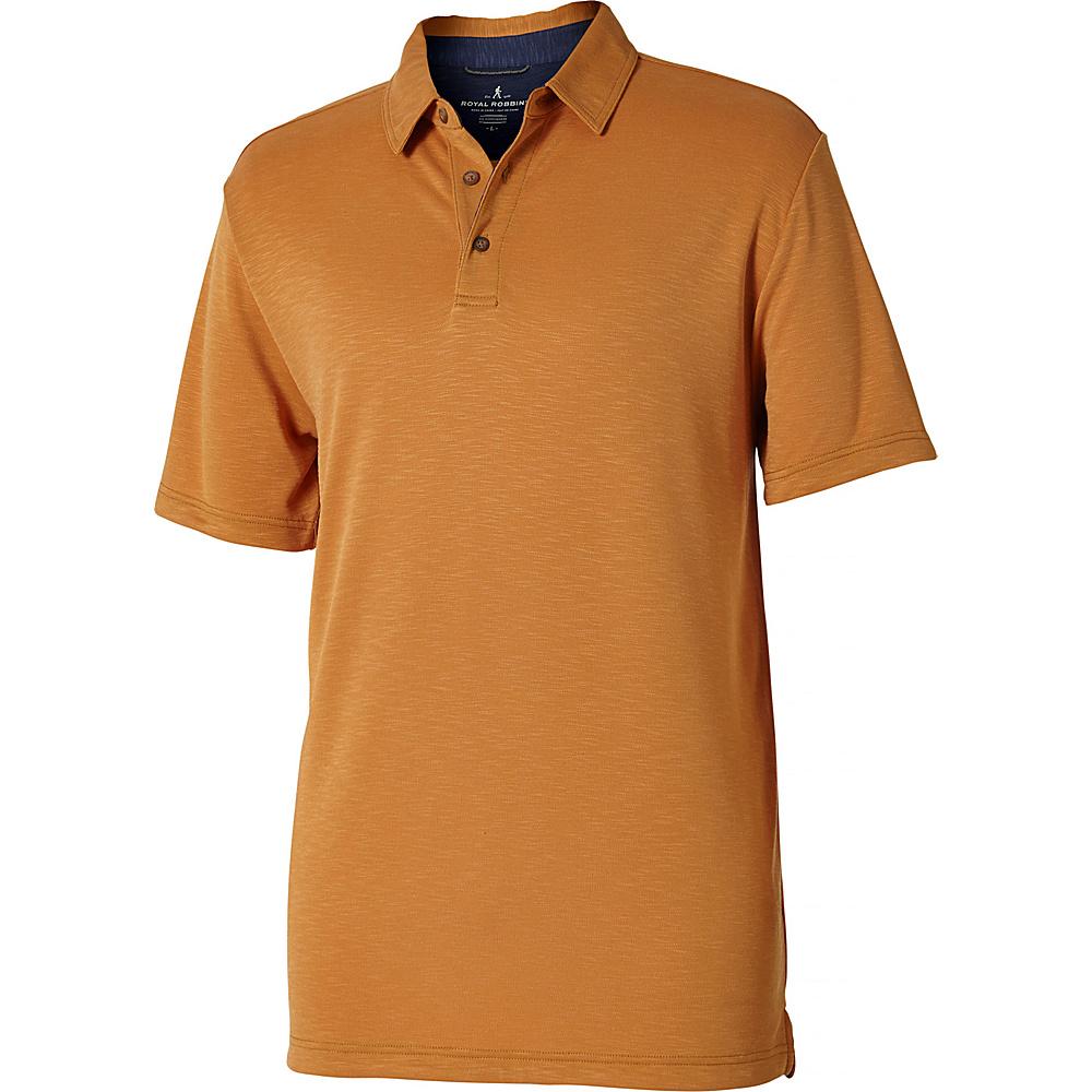 Royal Robbins Mens Great Basin Polo L - Butterscotch - Royal Robbins Mens Apparel - Apparel & Footwear, Men's Apparel