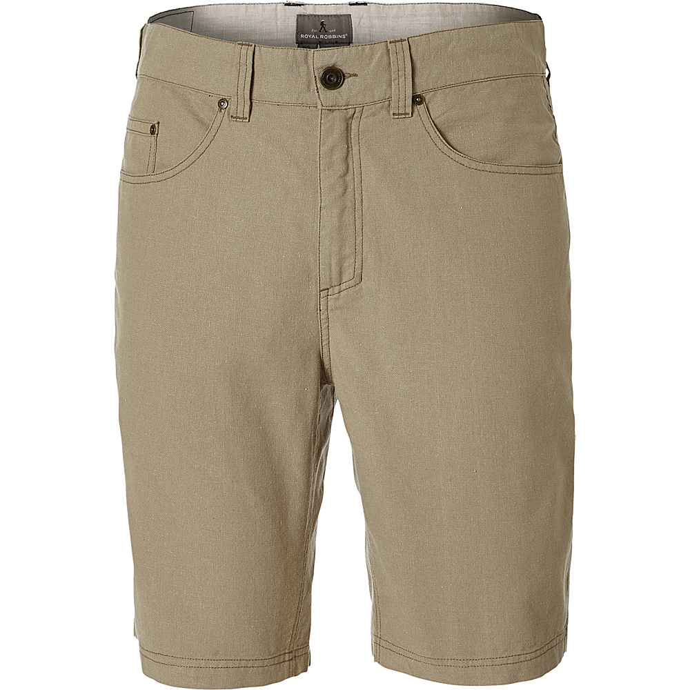 Royal Robbins Mens Gulf Breeze 5-Pocket Short 30 - 10in - Desert - Royal Robbins Mens Apparel - Apparel & Footwear, Men's Apparel