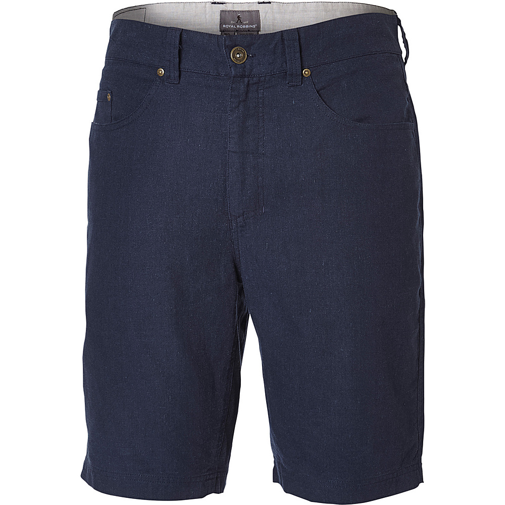 Royal Robbins Mens Gulf Breeze 5-Pocket Short 32 - 10in - Eclipse - Royal Robbins Mens Apparel - Apparel & Footwear, Men's Apparel