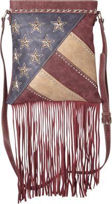 Montana West America Pride Crossbody Red - Montana West Leather Handbags