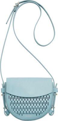 Skagen Lobelle Leather Mini Saddle Bag Sky Blue - Skagen Leather Handbags