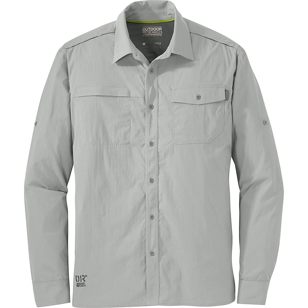 Outdoor Research Mens Baja Long Sleeve Sun Shirt XL - Alloy - Outdoor Research Mens Apparel - Apparel & Footwear, Men's Apparel