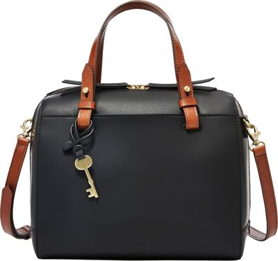 Fossil Rachel Satchel Black - Fossil Leather Handbags
