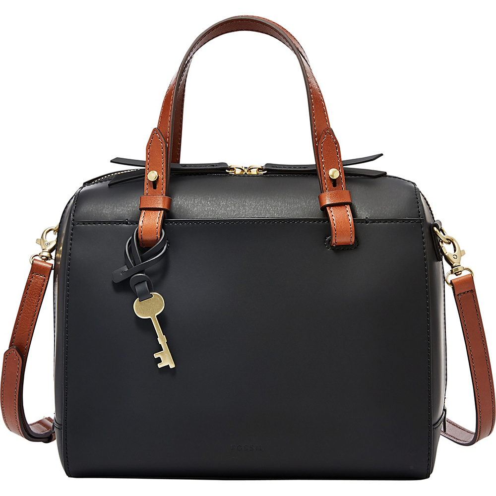 Fossil Rachel Satchel Black - Fossil Leather Handbags - Handbags, Leather Handbags