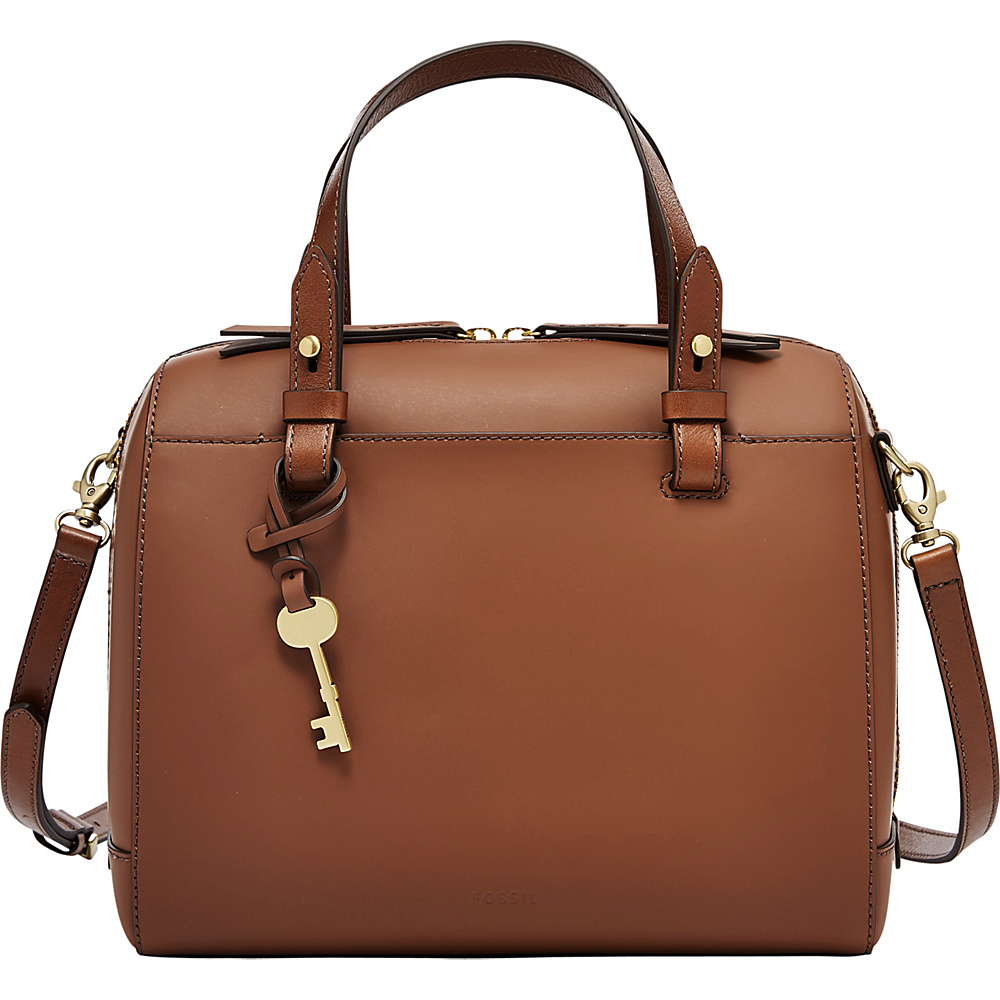 Fossil Rachel Satchel Brown - Fossil Leather Handbags - Handbags, Leather Handbags