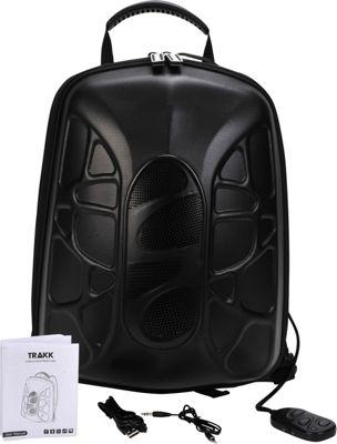 TRAKK Shell Weatherproof Bluetooth Speaker & Power Charging Backpack Black - TRAKK Backpacking Packs