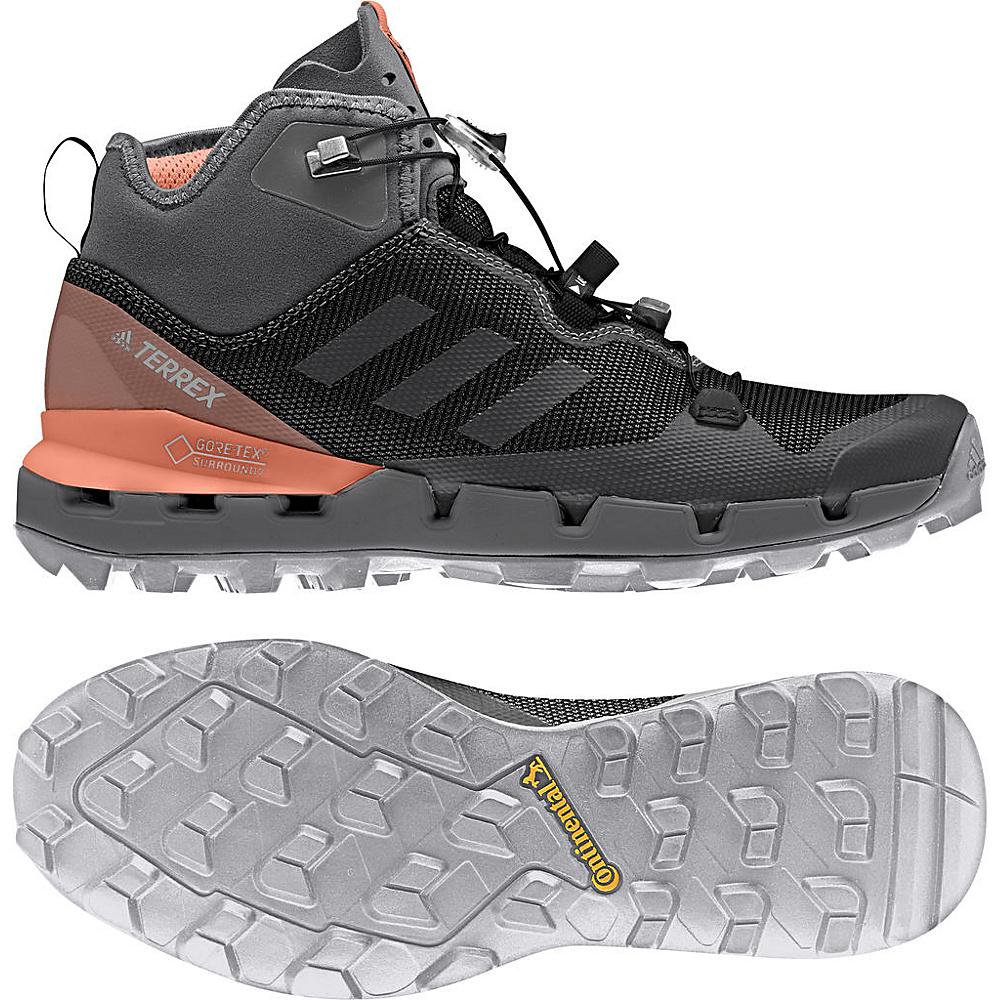 adidas outdoor Womens Terrex Fast GTX-Surround Shoe 9.5 - Black/Grey Five/Chalk Coral - adidas outdoor Womens Footwear - Apparel & Footwear, Women's Footwear